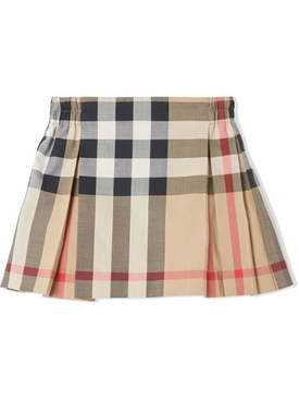 babies pleated mini skirt archive beige