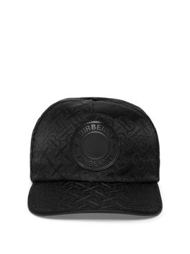 Monogram Trucker Cap Black