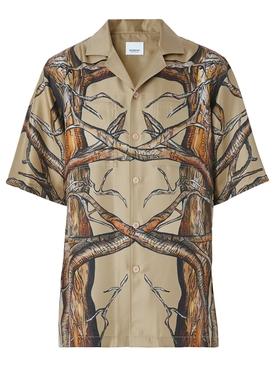 Short Sleeve Shirt Honey Pattern