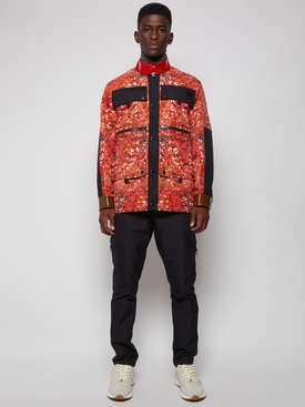 Floral Print Nylon Field Jacket