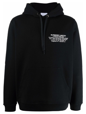 Limited Logo Hooded Sweater Black
