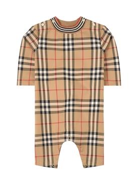 Babies Short Sleeve Onesie Archive Beige
