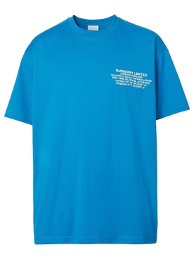 Limited London Logo T-shirt Warm Royal Blue