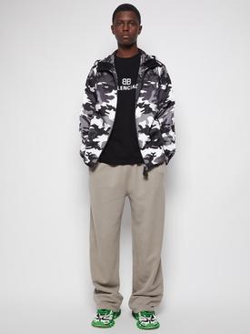 Monochrome camouflage print jacket