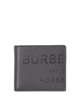 Leather Bill Wallet Sepia Grey