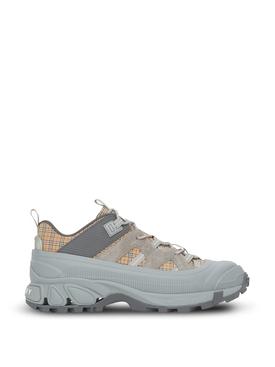 Arthur Micro Check Low Top Sneaker Grey