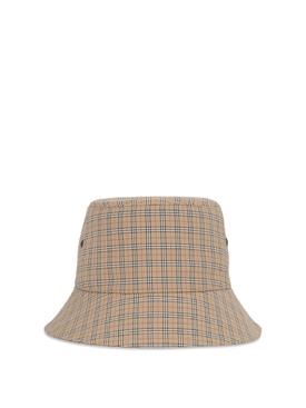 Bucket Hat MINI CHECK PRINT ARCHIVE BEIGE