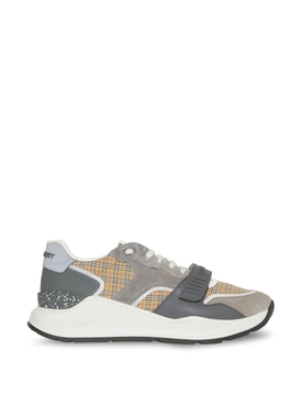 RAMSEY MICRO CHECK LOW TOP SNEAKER ARCHIVE BEIGE AND GREY