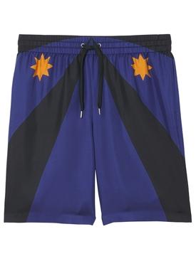 Silk Shorts Brazil Block Bright Navy