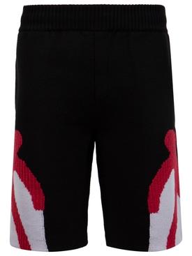 Dancing Men Knitted Shorts Black