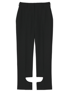 Ankle Cut-Out Detail Trousers Black