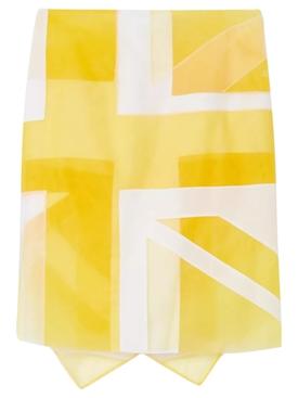 Flag Intarsia Tulle and Silk Skirt