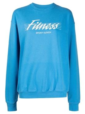 80's Fitness Sweatshirt Sapphire