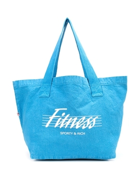 80s Fitness Tote Bag Sapphire
