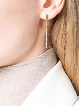 Ombre Line diamond earrings Rose Gold