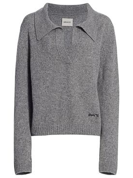 Khaite - Marisa Polo Sweater Grey - Women