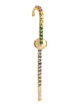 Petite Rainbow Sapphire Ear Pin