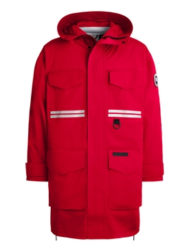 X ANGEL CHEN MORGAN RAIN JACKET FORTUNE RED