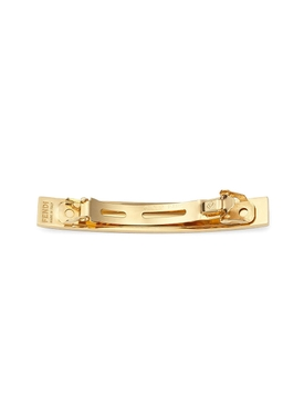 Gold-tone FF Logo Hair Barrette Black