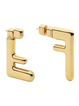 Gold-Tone FF Earrings