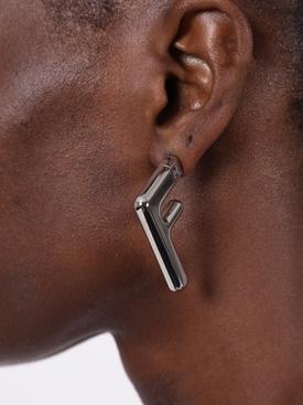 Silver-tone FF Earrngs