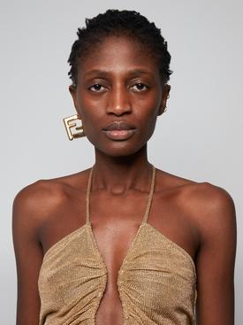 Gold-Tone FF Earrings
