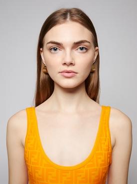 Gold-tone cube earrings