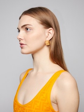 Gold-tone cube earrings