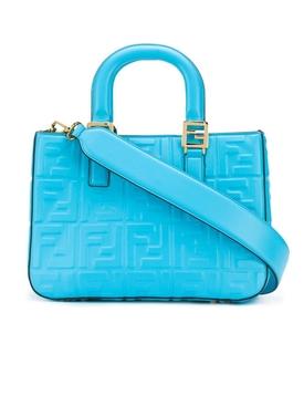 Blue small FF tote