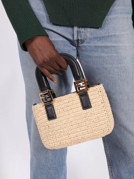 Mini Raffia Tote Bag