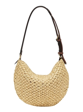SMALL CROISSANT SHOULDER BAG, NATURAL NATURAL