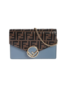 Light Blue Fendi Fab Shoulder Bag