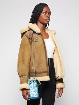 X Sarah Coleman Mini Mon Tresor Bucket Bag Cyber Blue