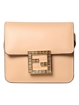 Pink Fendi Fab Shoulder Bag