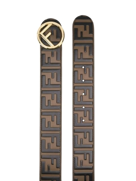 FF Logo Leather Belt