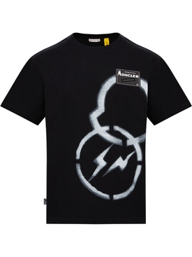 7 MONCLER FRAGMENT HIROSHI FUJIWARA BLACK T-SHIRT