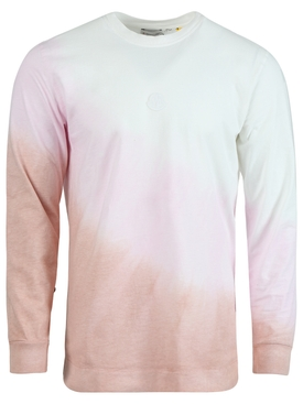 6 MONCLER 1017 ALYX 9SM dyed long-sleeve t-shirt light pink