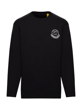2 Moncler 1952 LONG SLEEVE T-SHIRT BLACK