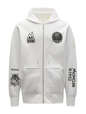 2 MONCLER OVERSIZED HOODIE SWEATER White