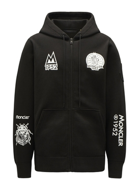 2 MONCLER OVERSIZED HOODIE SWEATER Black
