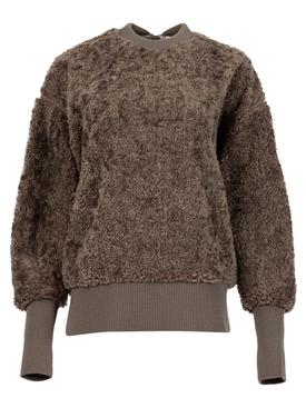 X HYKE Sweatshirt Dark Beige