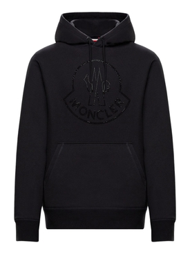2 Moncler 1952 EMBELLISHED LOGO HOODIE SWEATER BLACK