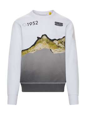 2 Moncler 1952 White Sweatshirt With Graphic