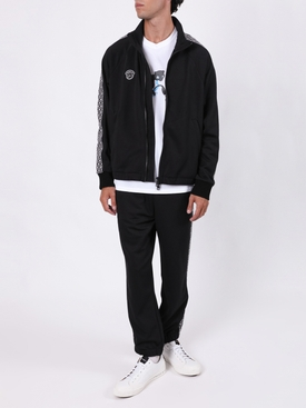 7 MONCLER FRAGMENT HIROSHI FUJIWARA BLACK TRACK PANTS
