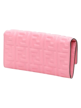 Baguette Continental Chain Wallet PINK