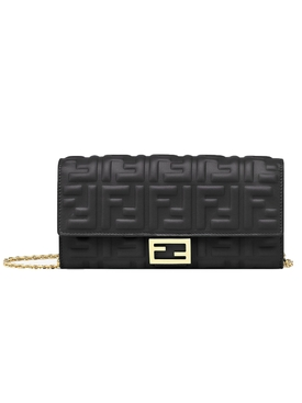 Baguette Continental Chain Wallet BLACK