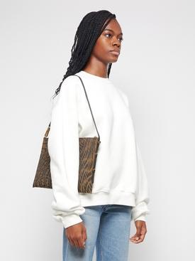 X Sarah Coleman FF Vertigo Clutch Bag Brown