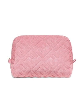 Fendi - Pink Embossed Logo Terry Cosmetic Case - Women