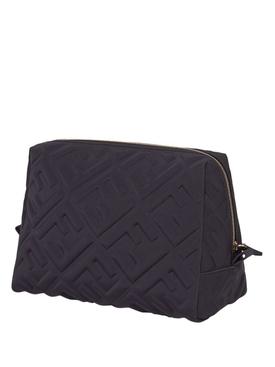FF Logo Print Cosmetic Bag, Black