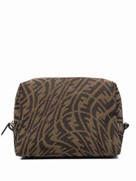 X Sarah Coleman Makeup bag brown